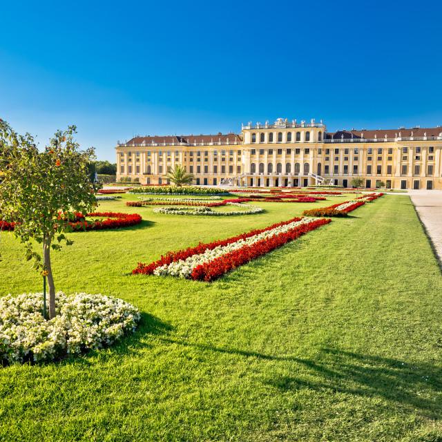 """""""Vienna Schlossberg castle gardens view"""" stock image"""
