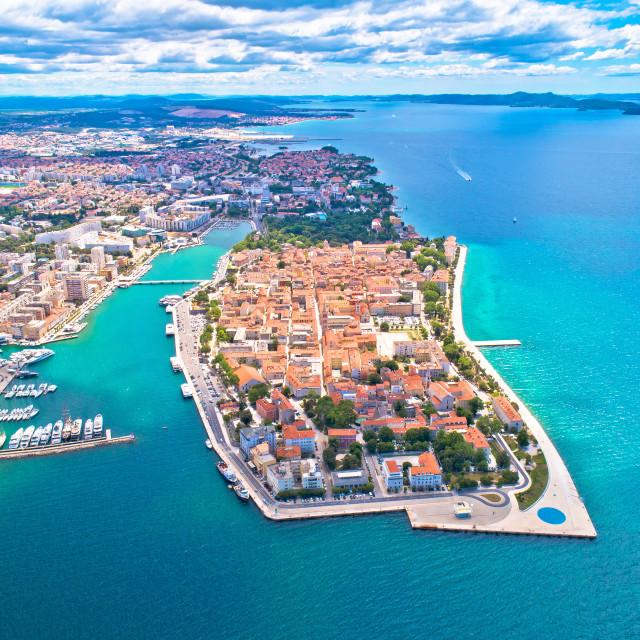 """City of Zadar aerial panoramic view"" stock image"