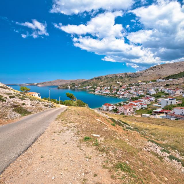 """Idyllic coastal village of Metajna, Island of Pag"" stock image"
