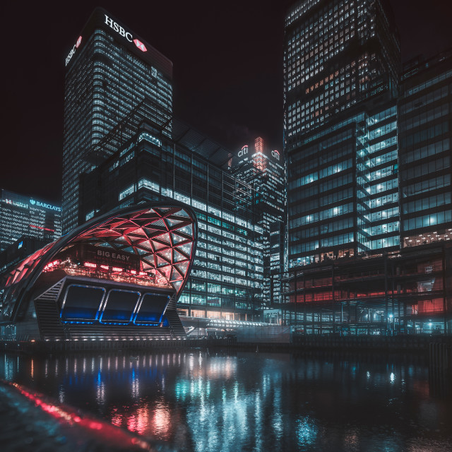 """Big Easy, Canary Wharf"" stock image"