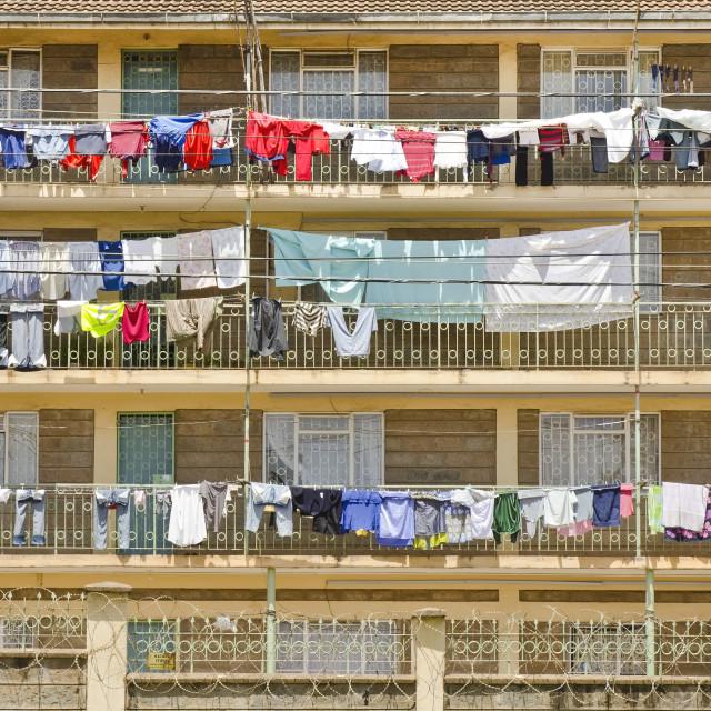 """""""Kenyan housing facade"""" stock image"""