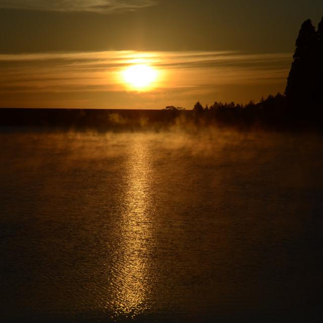 """Malawian Sunrise"" stock image"
