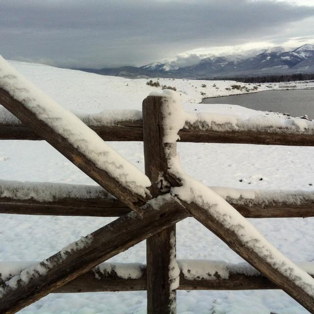 """""""Baldy Mountain Ranch , Blackfoot Valley"""" stock image"""