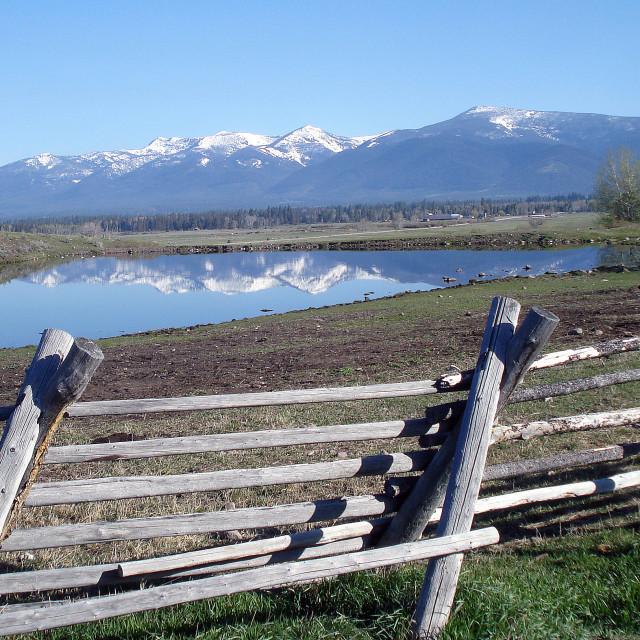 """""""Baldy Mountain Ranch"""" stock image"""