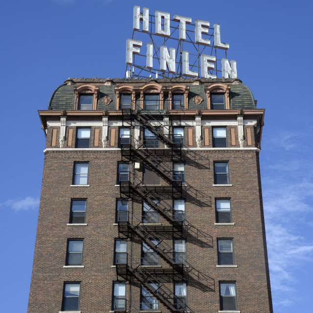 """Hotel Finlen, Butte, Montana"" stock image"