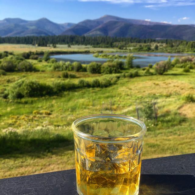"""""""Whiskey Still Life, Montana"""" stock image"""