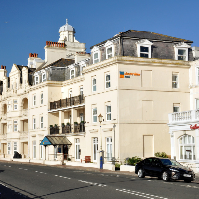 """""""seafront Hotels_Eastbourne"""" stock image"""