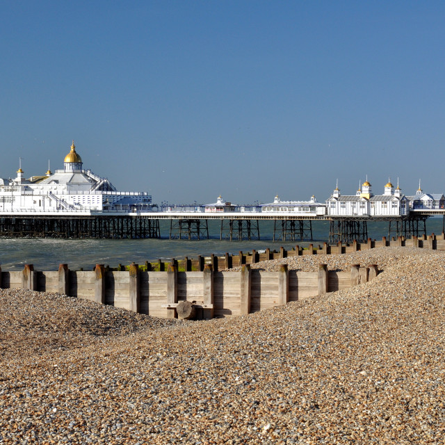 """Beacxh & Pier, Eastbourne"" stock image"