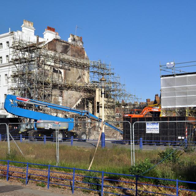 """""""Hotel Demolition_Eastbourne"""" stock image"""