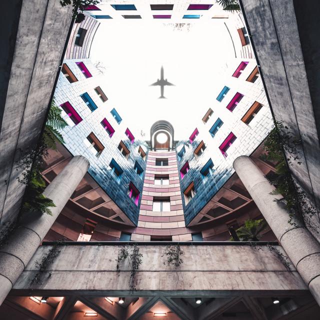 """Unknown Flight Path, London"" stock image"