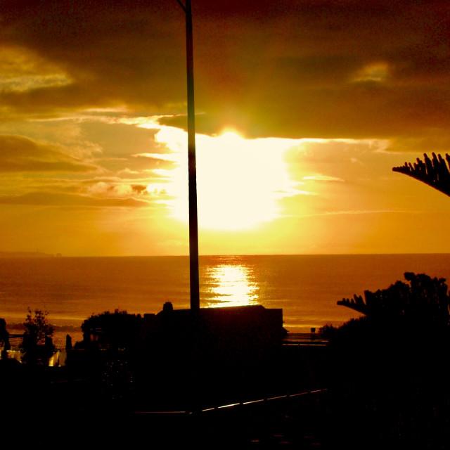 """Lorne Sunset"" stock image"