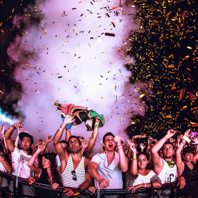 """""""Confetti rave"""" stock image"""