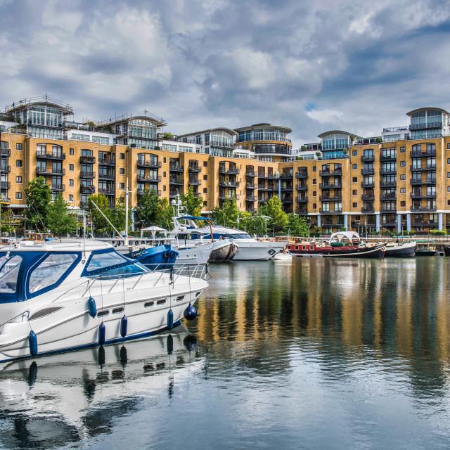 """""""St Katharine Docks Marina"""" stock image"""