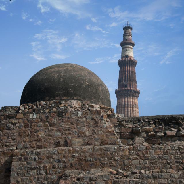 """The Qutb Minar"" stock image"