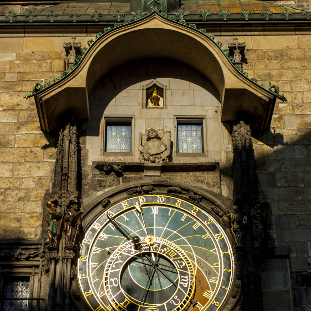 """Prague Astronomical Clock"" stock image"
