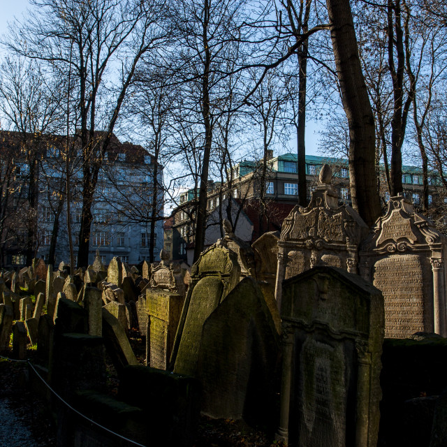 """Old Jewish Cemetery, Prague"" stock image"
