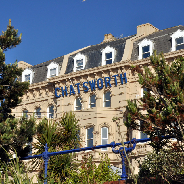 """""""seafront_Eastbourne"""" stock image"""