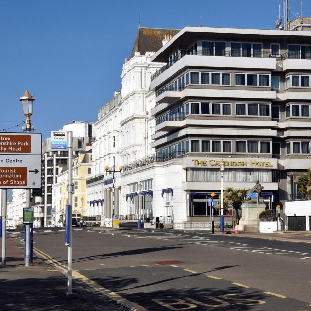 """Eastbourne, Cavendish Hotel"" stock image"