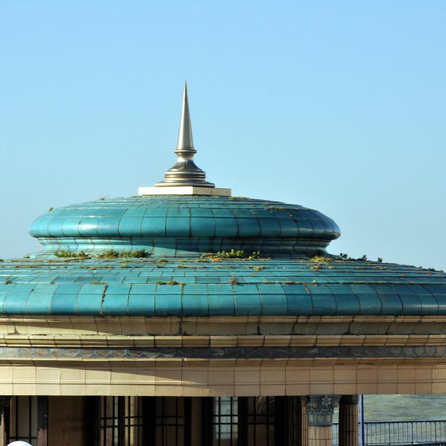 """Bandstand Roof, Eastbourne"" stock image"