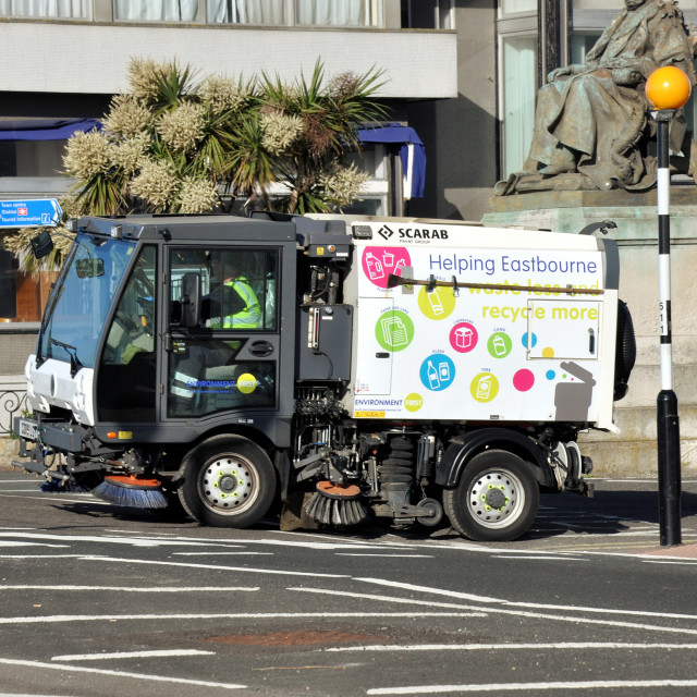 """""""road sweeper"""" stock image"""
