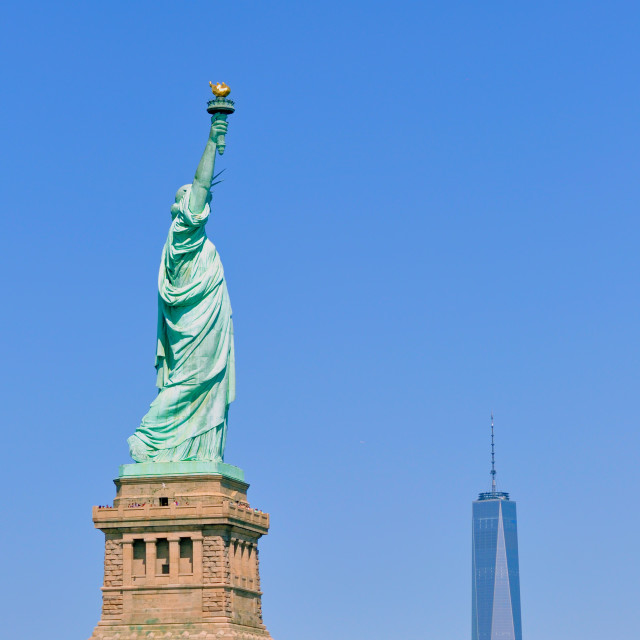 """liberty statue"" stock image"