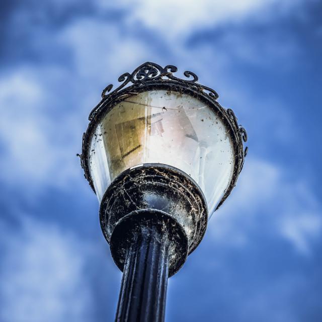 """""""Lamp Post from Jesus Lock Foot Bridge."""" stock image"""