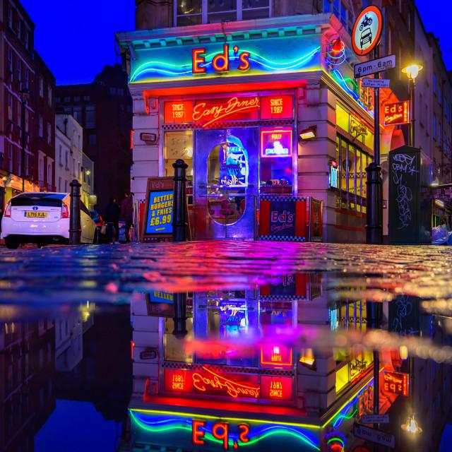 """""""Ed's Easy Diner - Soho, London, UK"""" stock image"""