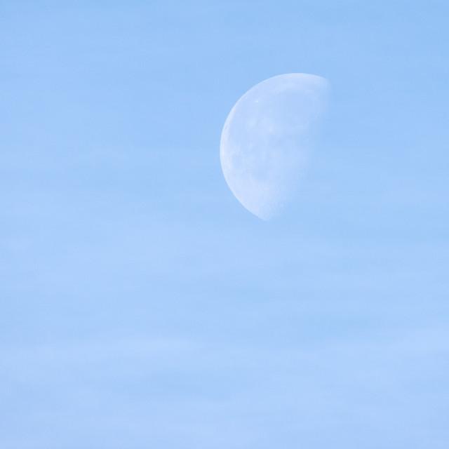 """""""Hazy morning moon"""" stock image"""