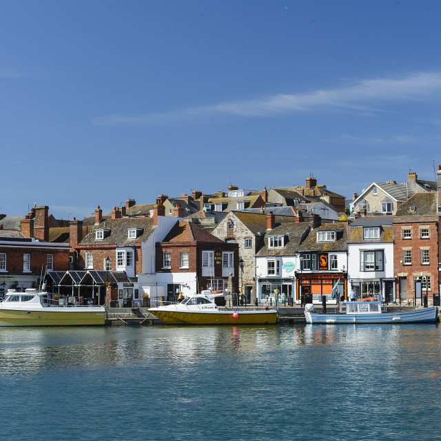 """Weymouth Harbour, Dorset"" stock image"