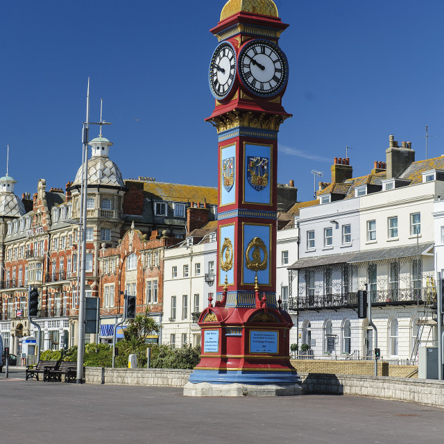 """The Click Tower, Weymouth, Dorset"" stock image"