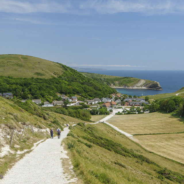 """West Lulworth, Dorset"" stock image"