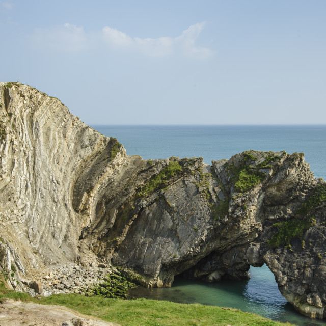 """Stair Hole, West Lulworth, Dorset"" stock image"