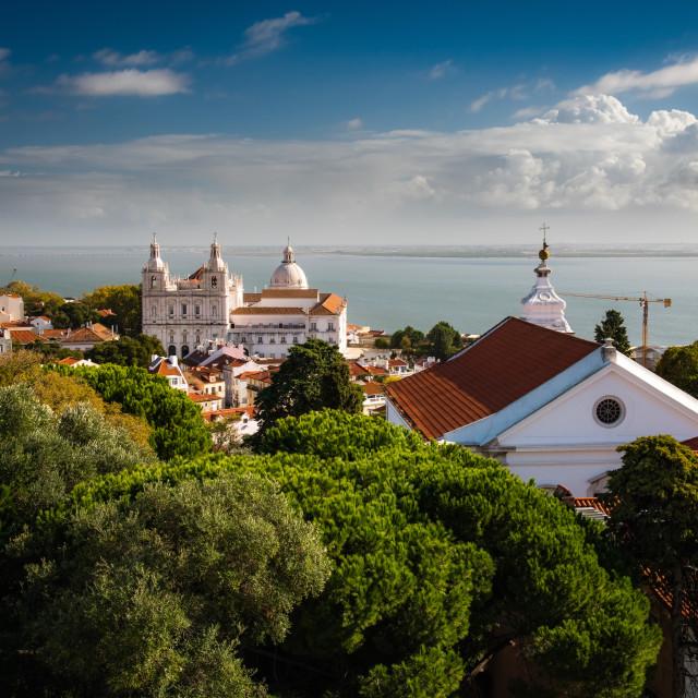 """""""Church of São Vicente of Fora Lisbon"""" stock image"""