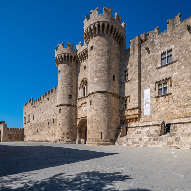 """""""Palace of the Grand Master of the Knights of Rhodes"""" stock image"""
