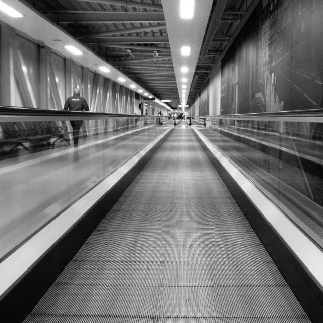 """Edinburgh Airport Walkway"" stock image"