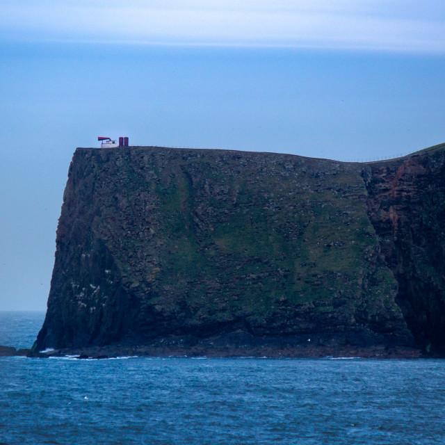 """Fair Isle Foghorn"" stock image"
