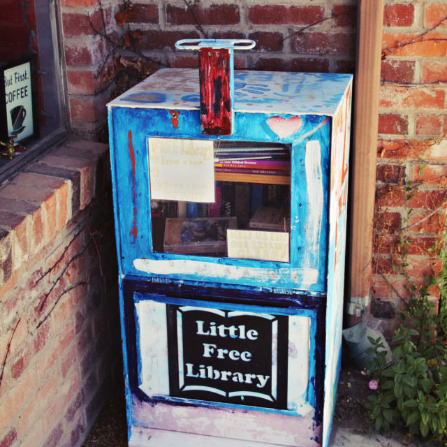 """""""Little Free Library"""" stock image"""