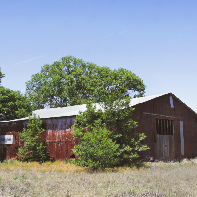 """""""Abandoned barn in Estancia, New Mexico"""" stock image"""