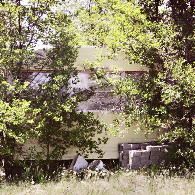 """Abandoned Windsor Mobile Home"" stock image"