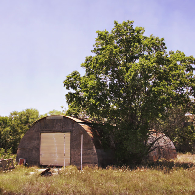 """""""Abandoned garage in Estancia, New Mexico"""" stock image"""