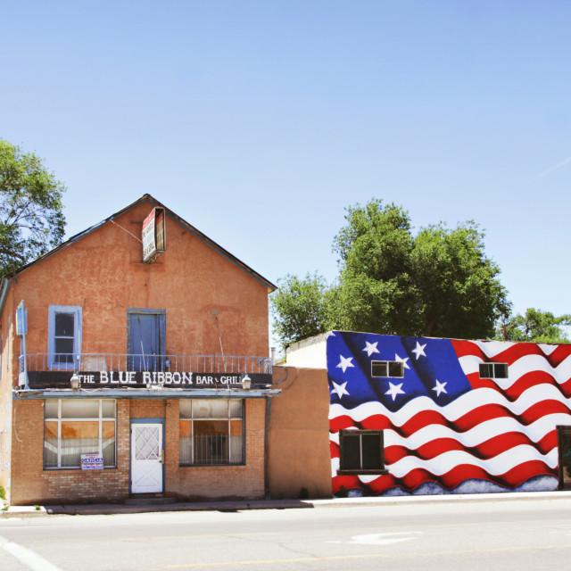 """Blue Ribbon Bar & Grill"" stock image"