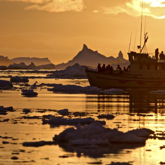 """""""Disko Bay in Greenland"""" stock image"""