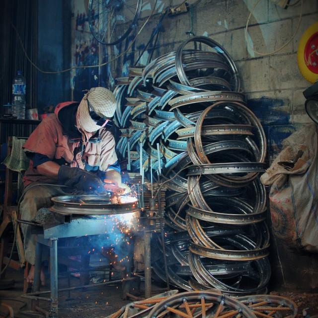 """Workshop, Jakarta"" stock image"