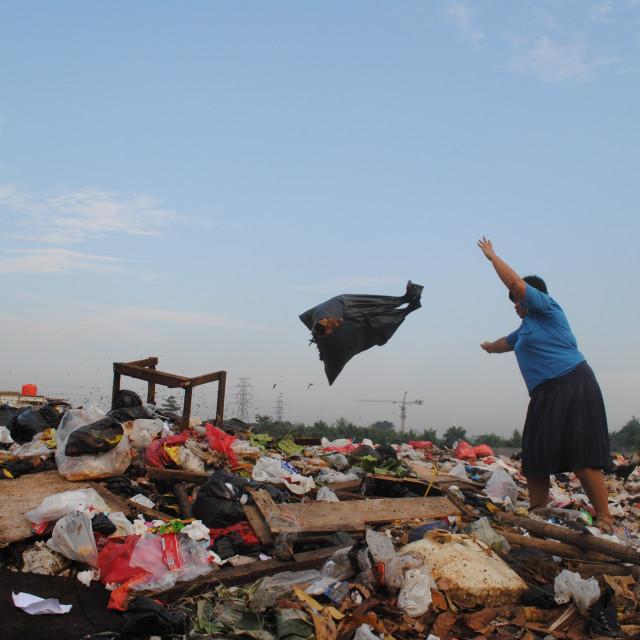 """Buang Sampah, Jakarta"" stock image"