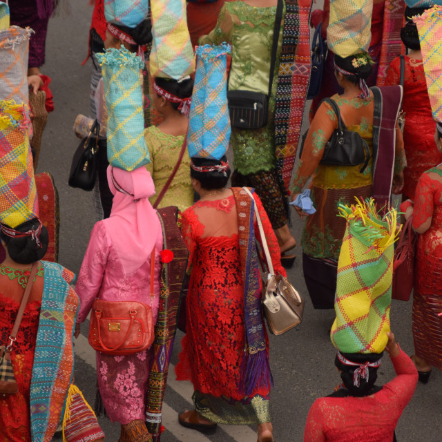 """Street Procession, Sumatra"" stock image"