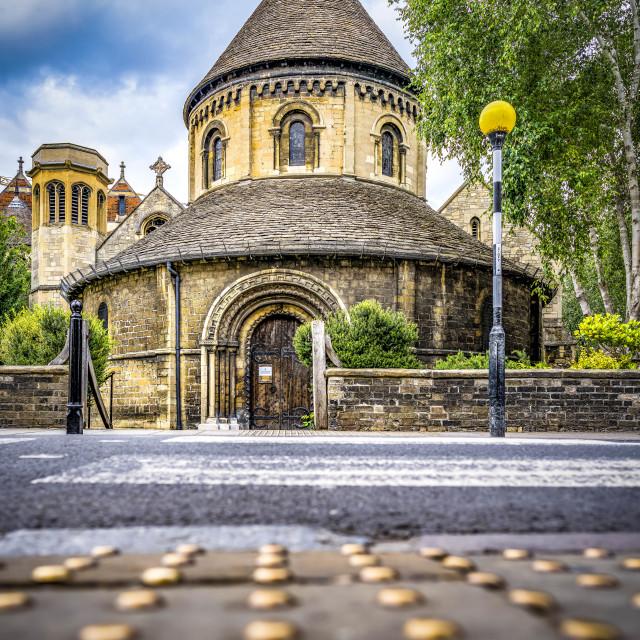 """The Round Church, Cambridge UK."" stock image"