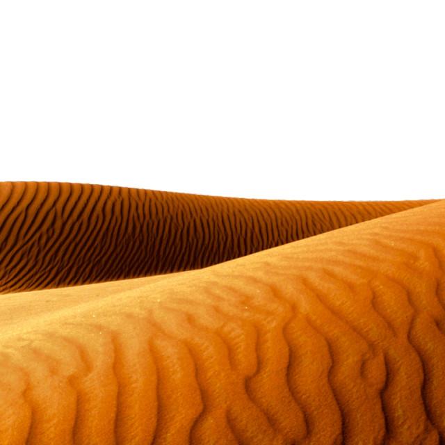 """Sand Dunes Of Arabian Deserts"" stock image"
