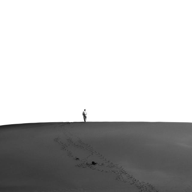 """Walk Alone"" stock image"