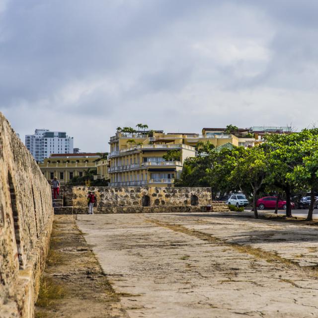 """Cartagena Old Town"" stock image"
