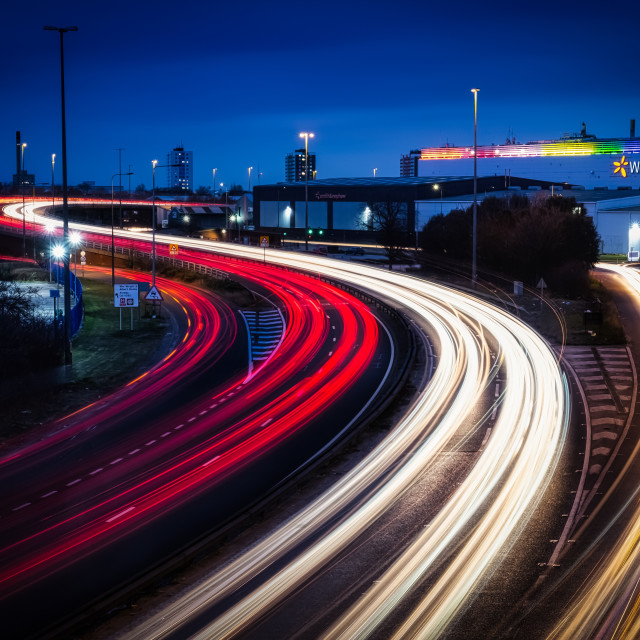 """Hull light trails"" stock image"